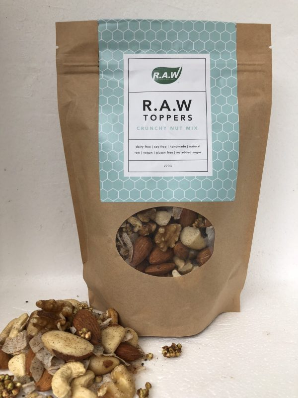Combination of delicious nuts in a pouch
